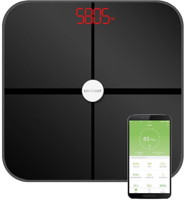Concept Osobná váha VO4011 diagnostická 180kg čierna