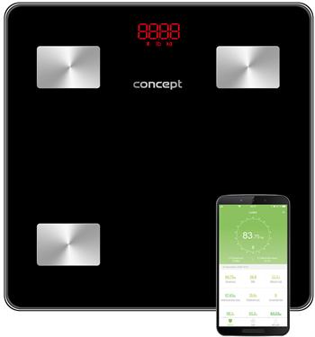 Concept Osobná váha VO4001 diagnostická 180kg čierna