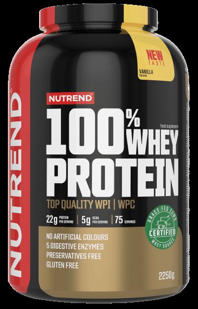 Nutrend 100% Whey Protein, Vanilka 2250g
