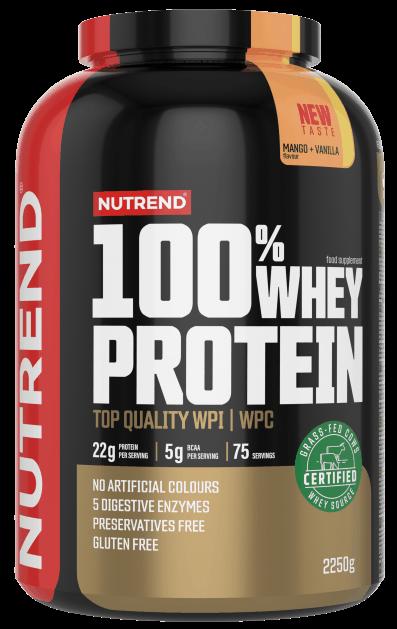 Nutrend 100% Whey Protein, Mango/vanilka 2250g