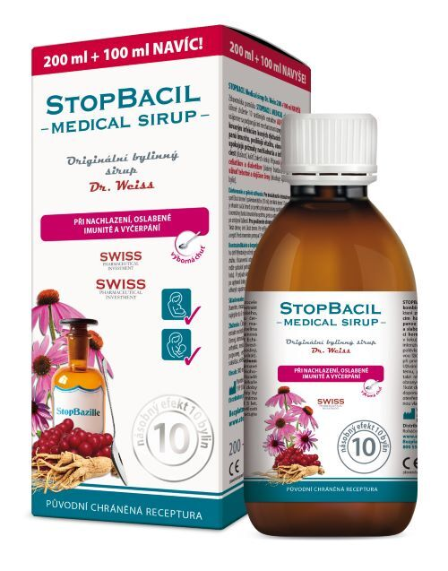 Simply You StopBacil Medical sirup Dr. Weiss 200 ml + 100 ml ZDARMA