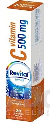 Revital Vitamín C 500 mg s príchuťou pomaranč 20 šumivých tabliet